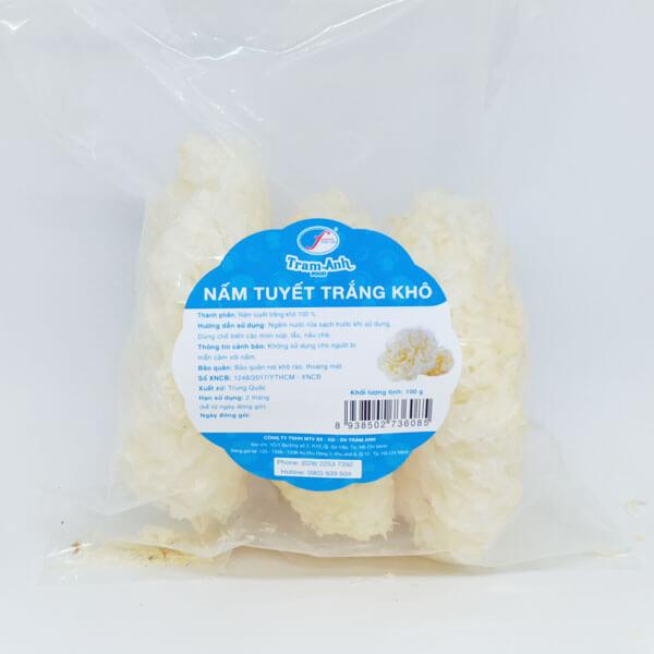 Nấm tuyết trắng, ngân nhĩ Trâm Anh Food (có bao bì)